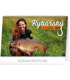 Stolní Rybářský kalendář CZ 2020, 23,1 x 14,5 cm