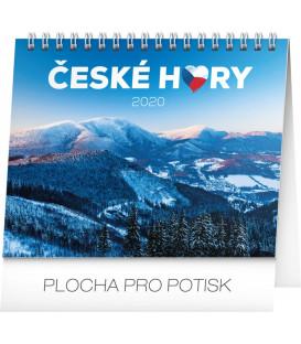 Stolní kalendář České hory CZ 2020, 16,5 x 13 cm