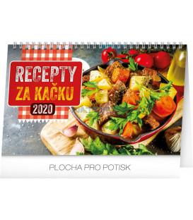 Stolní kalendář Recepty za kačku CZ 2020, 23,1 x 14,5 cm