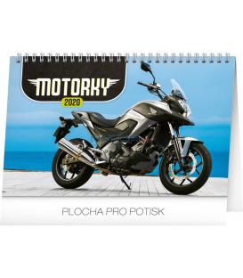 Stolní kalendář Motorky CZ 2020, 23,1 x 14,5 cm