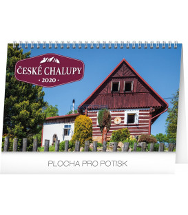 Stolní kalendář České chalupy CZ 2020, 23,1 x 14,5 cm