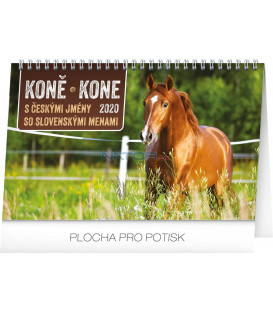 Stolový kalendár Koně – Kone CZ/SK 2020, 23,1 x 14,5 cm