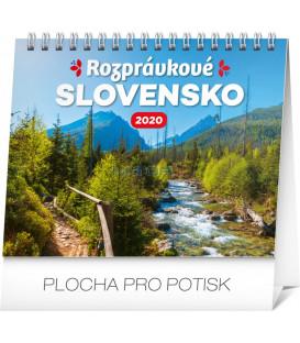 Stolový kalendár Rozprávkové Slovensko SK 2020, 16,5 x 13 cm
