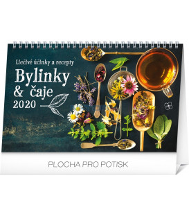 Stolový kalendár Bylinky a čaje SK 2020, 23,1 x 14,5 cm