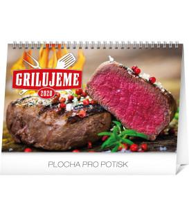 Stolový kalendár Grilujeme SK 2020 , 23,1 x 14,5 cm
