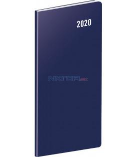 Vreckový diár Modrý SK 2020, plánovací mesačný, 8 x 18 cm
