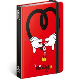 Týždenný diár Mickey 2020, 11 × 16 cm