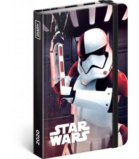 Týždenný diár Star Wars – Trooper 2020, 11 × 16 cm