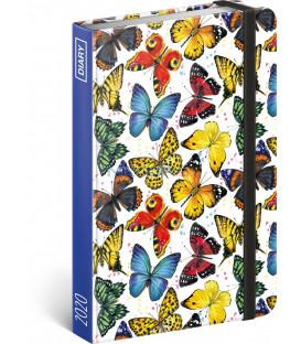 Týždenný diár Motýle 2020, 11 × 16 cm