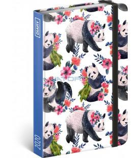Týždenný diár Pandy 2020, 11 × 16 cm