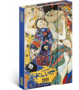 Týždenný magnetický diár Gustav Klimt 2020, 11 × 16 cm