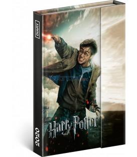 Týždenný magnetický diár Harry Potter 2020, 11 × 16 cm