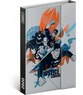 Týždenný magnetický diár Justice League 2020, 11 × 16 cm