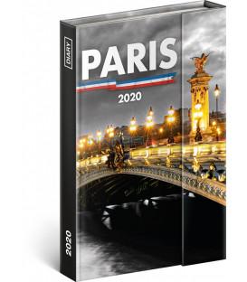 Týždenný magnetický diár Paríž 2020, 11 × 16 cm