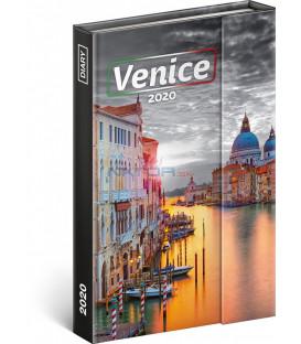 Týždenný magnetický diár Benátky 2020, 11 × 16 cm