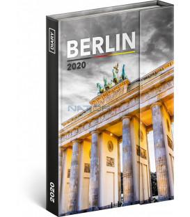 Týždenný magnetický diár Berlín 2020, 11 × 16 cm