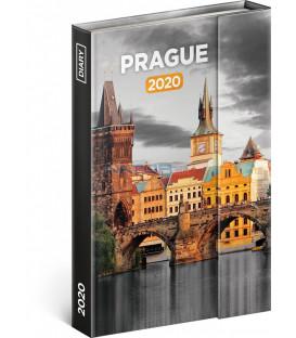 Týždenný magnetický diár Praha 2020, 11 × 16 cm