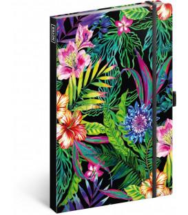 Notes Tropical, linajkovaný, 13 x 21 cm