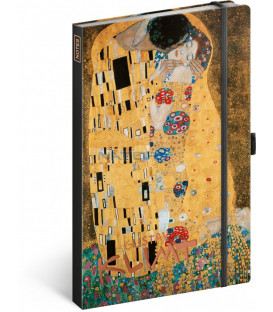Notes Gustav Klimt, linajkovaný, 13 x 21 cm