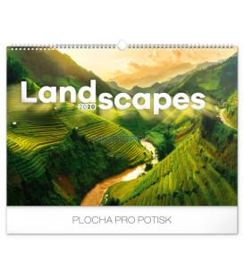 Nástenný kalendár Krajiny 2020, 48 x 33 cm