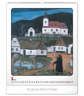 Nástenný kalendár Josef Lada – Rok na dedine 2020, 48 x 56 cm