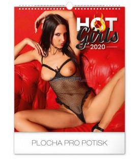 Nástenný kalendár Hot Girls 2020, 30 x 34 cm