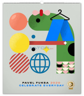 Nástenný kalendár Pavel Fuksa 2020, 48 x 56 cm