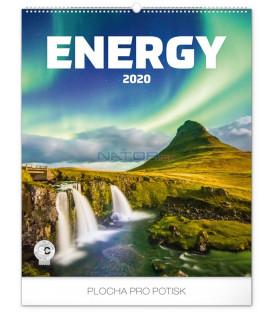 Nástenný kalendár Energia 2020, 48 x 56 cm