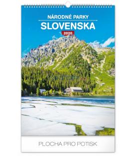 Nástenný kalendár Národné parky Slovenska SK 2020, 33 x 46 cm