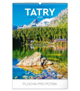 Nástenný kalendár Tatry 2020, 33 x 46 cm