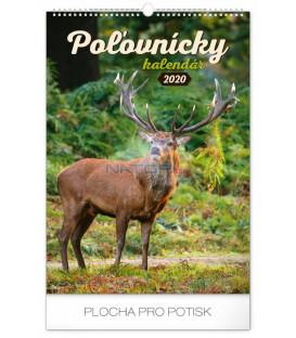 Nástenný kalendár Poľovnícky SK 2020, 33 x 46 cm