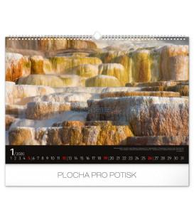 Nástenný kalendár 4 Živly 2020, 48 x 33 cm