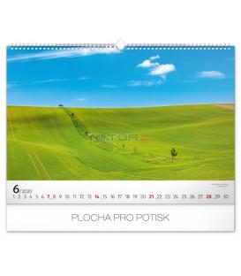 Nástenný kalendár Krásy Moravského Toskánska 2020, 48 x 33 cm