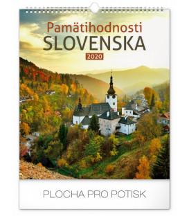 Nástenný kalendár Pamätihodnosti Slovenska SK 2020, 30 x 34 cm