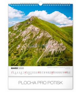 Nástenný kalendár Čarokrásne Slovensko SK 2020, 30 x 34 cm
