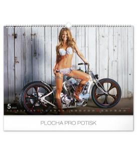 Nástenný kalendár Girls & Bikes – Jim Gianatsis 2020, 48 x 33 cm