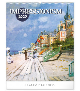 Nástenný kalendár Impresionizmus 2020, 48 x 56 cm