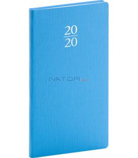 Vreckový diár Capys 2020, svetlomodrý, 9 x 15,5 cm