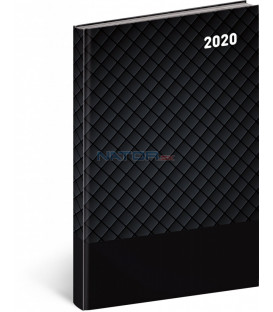 Týždenný diár Cambio Classic 2020, čierny, 15 x 21 cm