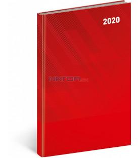 Týždenný diár Cambio Classic 2020, červený, 15 x 21 cm