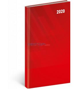 Vreckový diár Cambio Classic 2020, červený, 9 x 15,5 cm