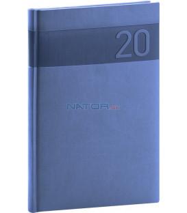 Týždenný diár Aprint 2020, modrý, 15 x 21 cm