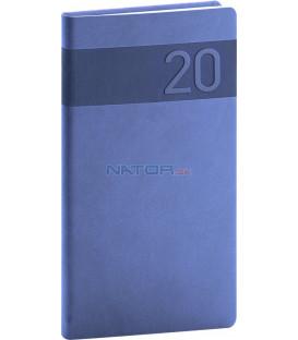 Vreckový diár Aprint 2020, modrý, 9 x 15,5 cm