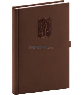 Denný diár Vivella Classic 2020, hnedý, 15 x 21 cm