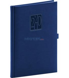 Týždenný diár Vivella Classic 2020, modrý, 15 x 21 cm