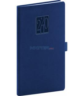Vreckový diár Vivella Classic 2020, modrý, 9 x 15,5 cm