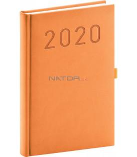 Denný diár Vivella Fun 2020, oranžový, 15 x 21 cm