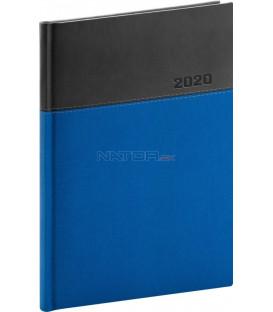 Denný diár Dado 2020, modro-čierny, 15 x 21 cm
