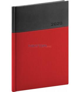 Denný diár Dado 2020, červeno-čierny, 15 x 21 cm