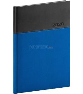 Týždenný diár Dado 2020, modro-čierny, 15 x 21 cm